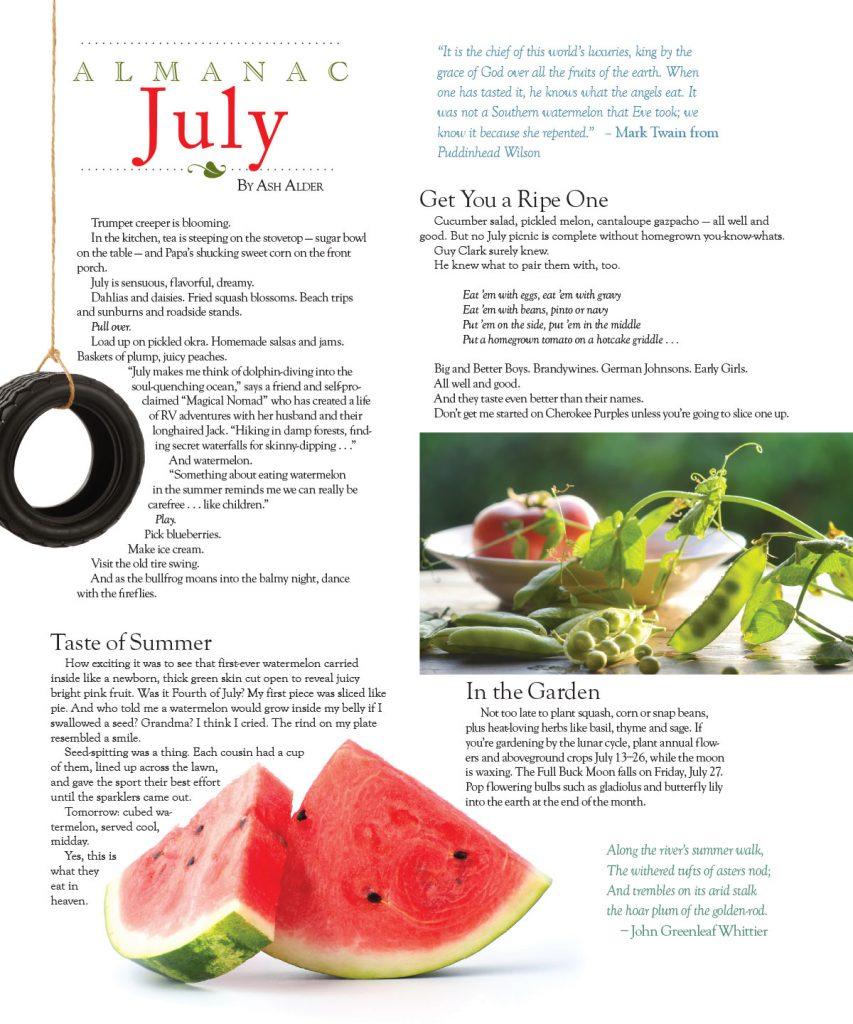 July 2018 Almanac – O Henry Magazine